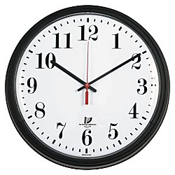 Chicago Lighthouse Bold Quartz Contract Clock, 13-3/4, Black (67700000)