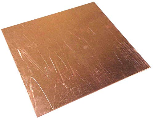 JumpingBolt Copper Sheet/Plate 1/8 (.125) x 3-1/4 x 3-1/4 Material May Have Surface Scratches