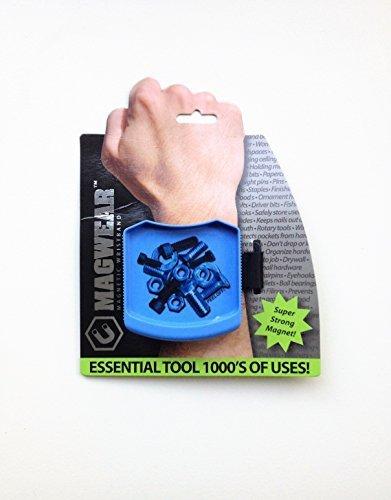 MagWear Magnetic mechanics Wristband Tool nail screw holder - Blue