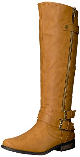 Rampage Women's Hansel Zipper and Buckle Knee-High for sale  Delivered anywhere in USA