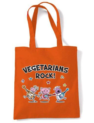 Shoulder Rock Bag Bag Vegetarians Shopping Shoulder Rock Orange Shoulder Shopping Orange Vegetarians Rock Vegetarians Shopping 7wTAqS1Z