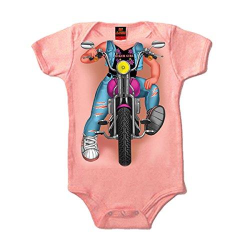 Hot Leathers Headless Girl Biker Onesie (Pink, Newborn) ()