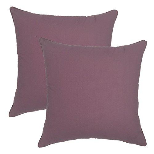 your-smile-100-cotton-decorative-throw-pillow-case-18-x-18-solid-color-2-pack-grape
