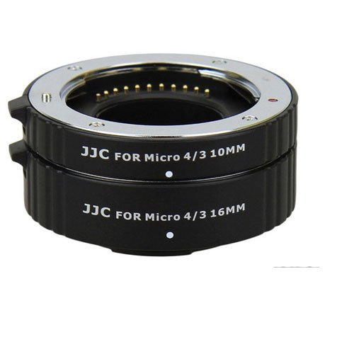 JJC AET-M43S Auto Extension Tube 10mm & 16mm For Olympus Panasonic Micro M 4/3 With A&R Cleaning cloth by JJC