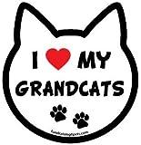 I Love My Grandcats cat head magnet