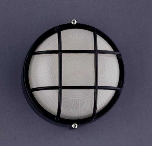 Bk Plc Ceiling Lighting (PLC Lighting 1222 BK Outdoor Fixture from Marine Collection, Black Finish)