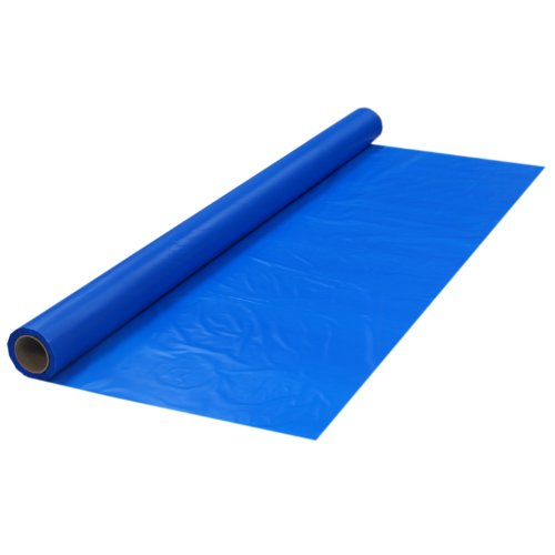 Party Essentials Plastic Banquet Table Roll Available in 27 Colors, 40' x 100', Royal Blue