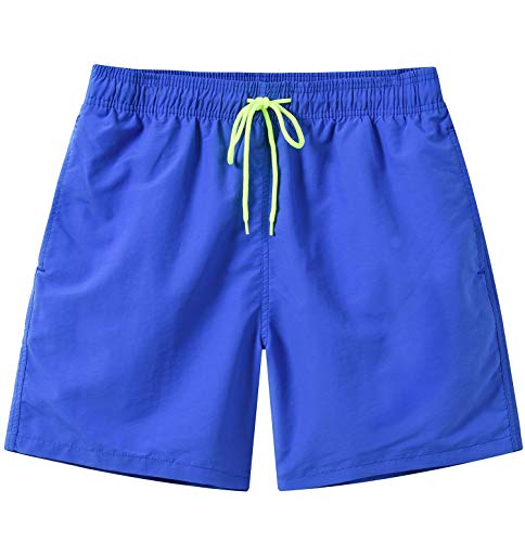 Mens Quick Dry Board Short Swim Trunks with Mesh Lining Deepblue US 36/Tag Asia 2XL
