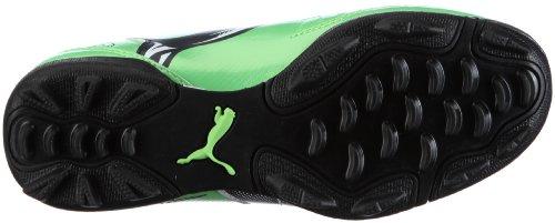 Puma v5.11 TT Jr 102344 Unisex zapatos de los deportes fútbol infantil Verde (Grün/Fluo Green-Midnight Navy-)
