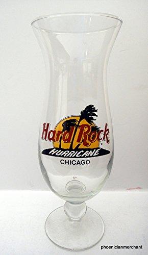 (Hard Rock Cafe Chicago Hurricane Glass Black Circle)