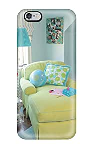 Special ZippyDoritEduard Skin Case Cover For Iphone 6 Plus, Popular Teen Bedroom With Funky Lime Chaise And Blue Walls And Rug Phone Case
