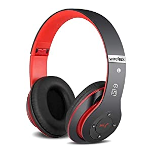 6S Wireless Headphones Over Ear, [52 Hrs Playtime] Hi-Fi Stereo Foldable Wireless Stereo Headsets Earbuds with Built-in…