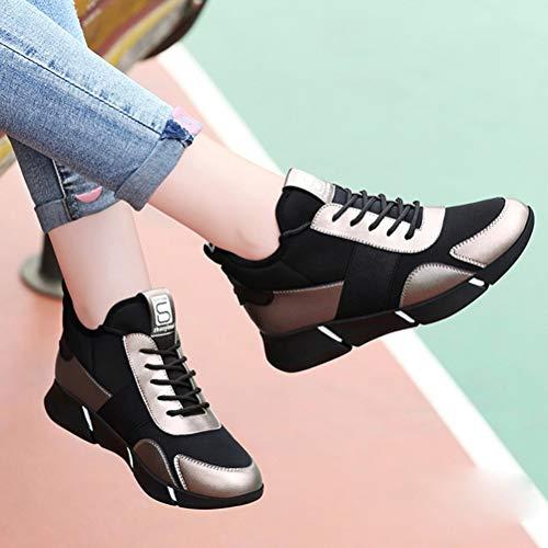 Mujer De Casual Redondo Bajo Zapatillas Los Plana Deportes B Botas Zapatos Cabeza Cordones f5qdq