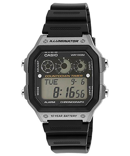 Casio AE1300WH 8AV Rubber Quartz Digital