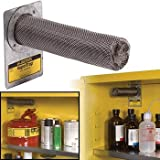Justrite® 2 1/4'' X 8 3/4'' VaporTrap Stainless Steel Activated Carbon Filter (For Safety Cabinets)