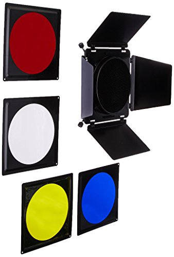 Fotodiox Fotodiox Universal Barndoor Kit with 45 Degree Honeycomb Grid & Color Gels, for Bowens Gemini Standard, Classica Powerpack, R Series, Rx Series and Pro Series Strobe Flash Light with 5.5-Inch - 7-Inch (Flash Barndoor)