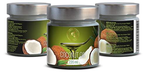 Olio di Cocco Pressato a Freddo 220ml - Indonesia - Extra Vergine - 100% Puro e Naturale - Miglior per ad Uso Alimentare 7 spesavip