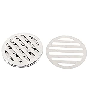 uxcell Kitchen Bathroom Round Floor Drain Drainer Cover 3.4 Inch Dia 8Pcs