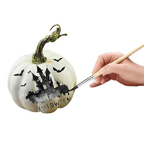 wintefei 6Pcs Halloween White Artificial Foam DIY Graffiti Pumpkin Party bar Home Garden Decoration Props]()