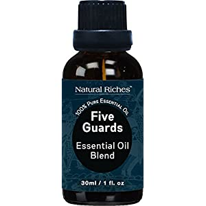 Five Guards Thieves Synergy Blend Essential Oils – 30 ml 100% Pure Natural Therapeutic Grade Best Health Shield