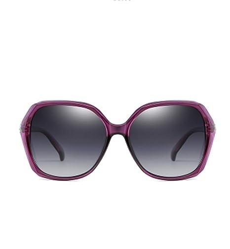 ERKEJI Gafas de Sol Mujer Gafas de Sol polarizadas de Alto ...
