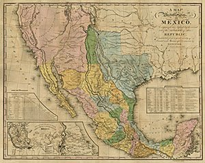 Amazon.com : Map of the United States of Mexico, Tanner 1846 ...