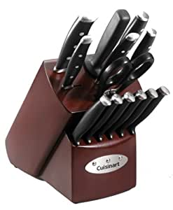 Cuisinart 14 Piece Triple Riveted Cherry Block Cutlery Set