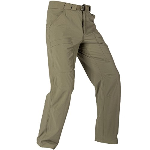 FREE SOLDIER Outdoor Men's Lightweight Waterproof Quick Dry Tactical Pants Nylon Spandex(Mud Color 36W/30L) Breathable Nylon Pant