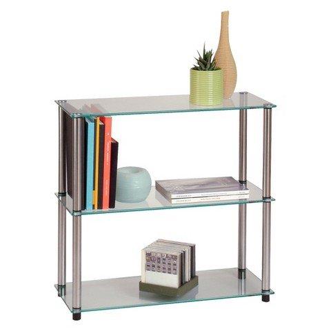 Convenience Concepts Classic Glass Shelving Unit