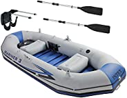 Intex Mariner 3 Person Inflatable Dinghy Boat & Oars Set + Boat Motor Mount