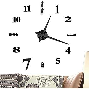 vangold large diy frameless wall clock modern mute 3d wall clock mirror stickers home office decorations