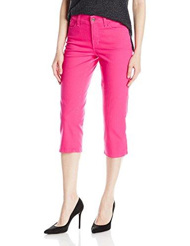 NYDJ Women's Bella Crop Jeans In Bull Denim, Sweet Pea, 16