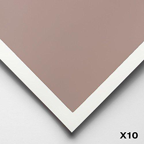 Art Spectrum : Colourfix Smooth : Pastel Paper : 50x70cm : Rose Grey : Pack of 10 by Art Spectrum