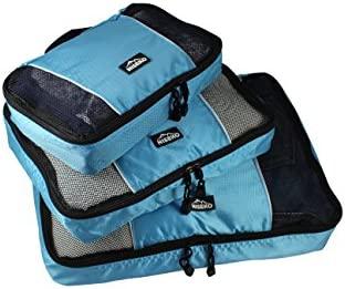 Bolsas de equipaje   organizador para maleta (pequeña, mediana y grande, 3 unidades), Azul