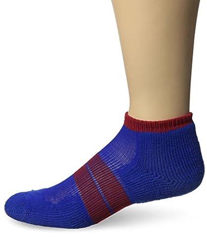 Thorlo 84 N Micro-Mini Crew Sock, Royal/Red, M (Women's: 6.5-10, Men's: 5.5-8.5) - 84n Runner