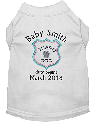 Baby Guard Dog Duty Begins Shirt, Pregnancy Announcement Pet TShirt by Whiskers World