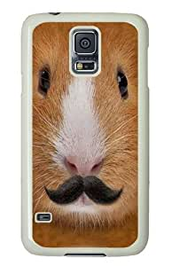 Big Face Incognito Guinea Pig Polycarbonate Hard Case Cover for Samsung Galaxy I9600/S5 White