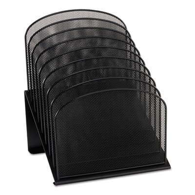 Safco 8 Compartment Mesh (Mesh Desk Organizer, Eight Sections, Steel, 11 1/4 x 10 7/8 x 13 3/4, Black, Sold as 1 Each)