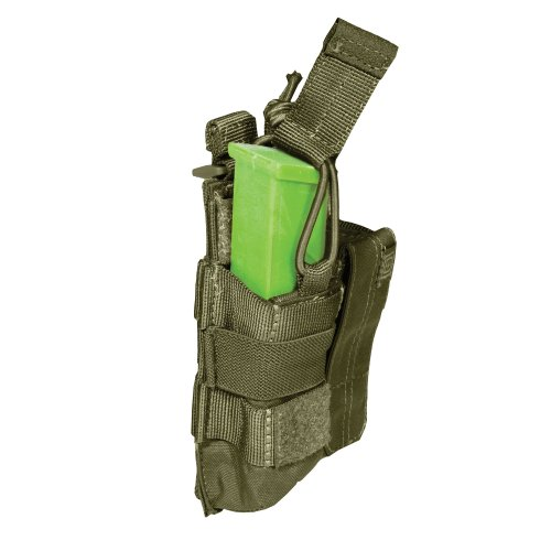 5.11 Pistol Bungee/Cover Double Magazine Pouch, Tactical OD Green