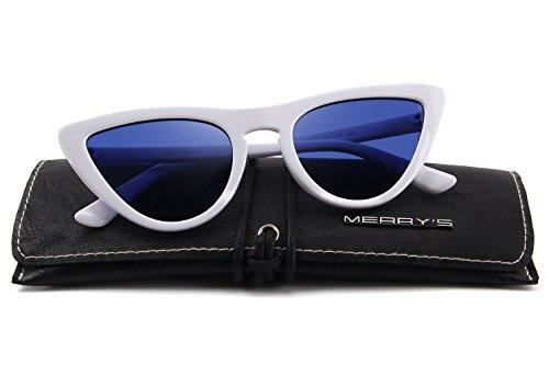 MERRY'S soleil de White Homme amp;Blue Lunettes YrEvqr