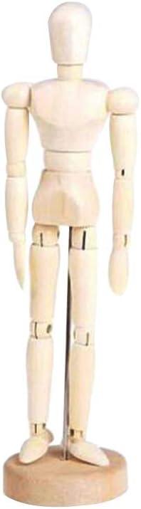 Holzgelenkpuppe Mann Unisex Cartoon Blockhead handgefertigt f/ür Kinder K/ünstler Skizze Modell Gem/älde Haus Dekoration Puppet Zeichnung Spielzeug Figuren 8inch Wie abgebildet