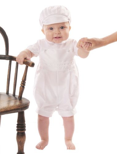James 18 Month Christening Baptism Blessing Outfits for Boys, Made in USA (Made Outfit)
