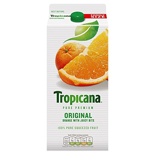 Jugo de naranja Tropicana original de 1,6 litros (Pack de 6 x 1.6