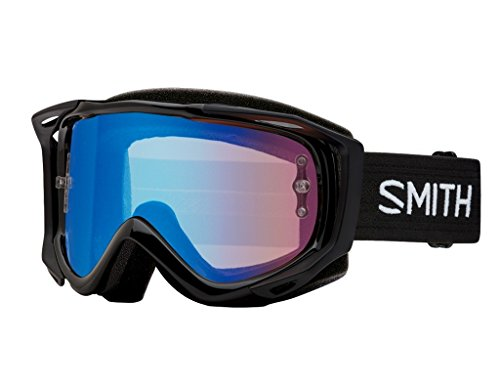 Smith Optics Fuel V.2 Adult Off-Road Goggles - Black/Chromapop Contrast Rose Flash/One - System Off Smith Roll