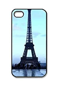 Beautifule PC Hard Shell Travels Eiffel Tower with Black Skin Edges for iPhone 4 4S Case