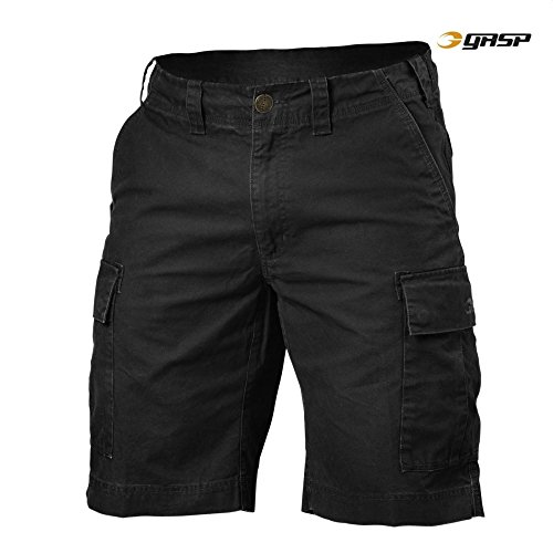 2x large Black Rough Washed Cargo Shorts SpwqBxXxI8