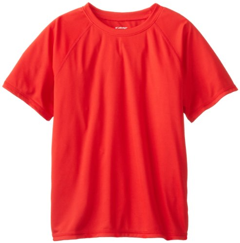 - Kanu Surf Big Boys' Short Sleeve UPF 50+ Rashguard Swim Shirt, Solid Red, Medium (10)