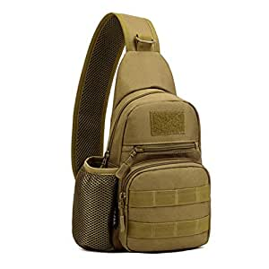 X-Freedom Men Casual Sling Chest Pack Bag Shoulder Bag Crossbody Daypack, Dark Brown