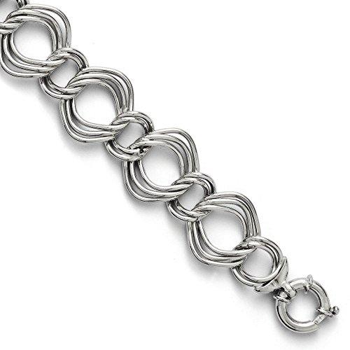 """Argent Sterling, Bracelet lien-Triple-JewelryWeb 8 """""""