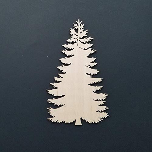 Wood Pine Tree Shape - Laser Cutouts - Craft Supplies - Christmas Tree Shape